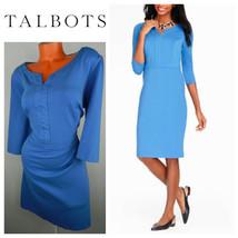 Talbots 20W 2X 3X Plus Sheath Shift DRESS Sky BLUE Career     z - $47.21
