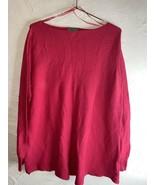 Joseph A. Bright Pink Lightweight Boat Neck 3/4 Sleeve Sweater 1X Plus Size - $15.88