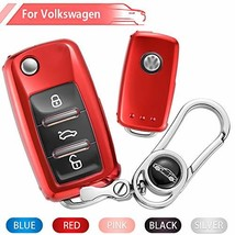 RYE Key Fob Cover for VW Volkswagen, Soft TPU Key Fob Case All-Around Protector