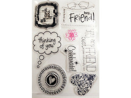 Sentiments with Frames and Sentiments without Frames Clear Stamp Set