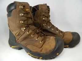 """Keen Mt. Vernon 8"""" Size US 12 M (D) EU 46 Men's Steel Toe WP Work Boots 1013257"""