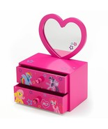 My Little Pony Jewelry Box & Removable Mirror Set 2 Drawers Pinkie Pie -... - $28.74