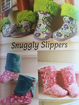 Kwik Sew Sewing Patterns 3926 Snuggly Slippers Adult Childrens Size XS-X... - $16.47
