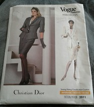 Vintage VOGUE 2011 Paris Original Christian Dior Jacket Skirt Womans 12 ... - $30.84