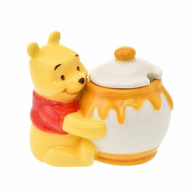 Disney Store Japan Pooh Honey Hunt Pot Sugar Case Bottle Figure - $58.41