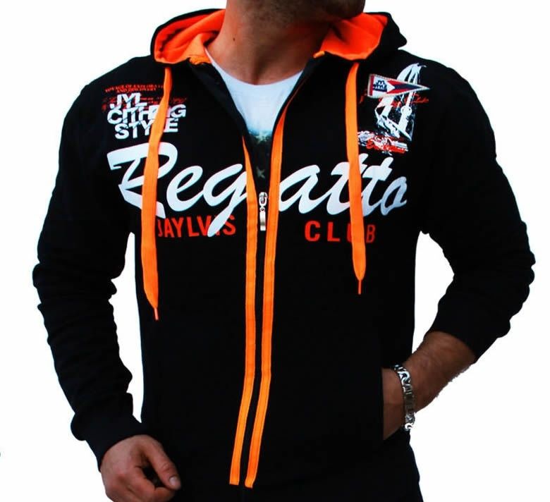 Men Sport Tracksuit Casual Letter Printed Hoodie Coat Leisure Trousers for Male  image 2
