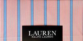 Lauren Ralph Lauren 4pc Sheet Set Queen BLUE, RED & WHITE STRIPED 100%CO... - $88.75