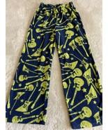 Gap Kids Boys Navy Blue Green Guitars Fleece Pajama Pants 8 - $9.28