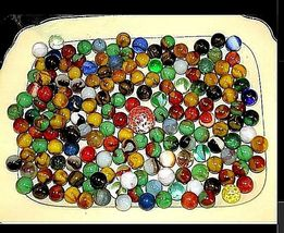 Group of 170 Marbles in Wine Glass with 1 Shooter AA18 - 1175M Vintage image 7