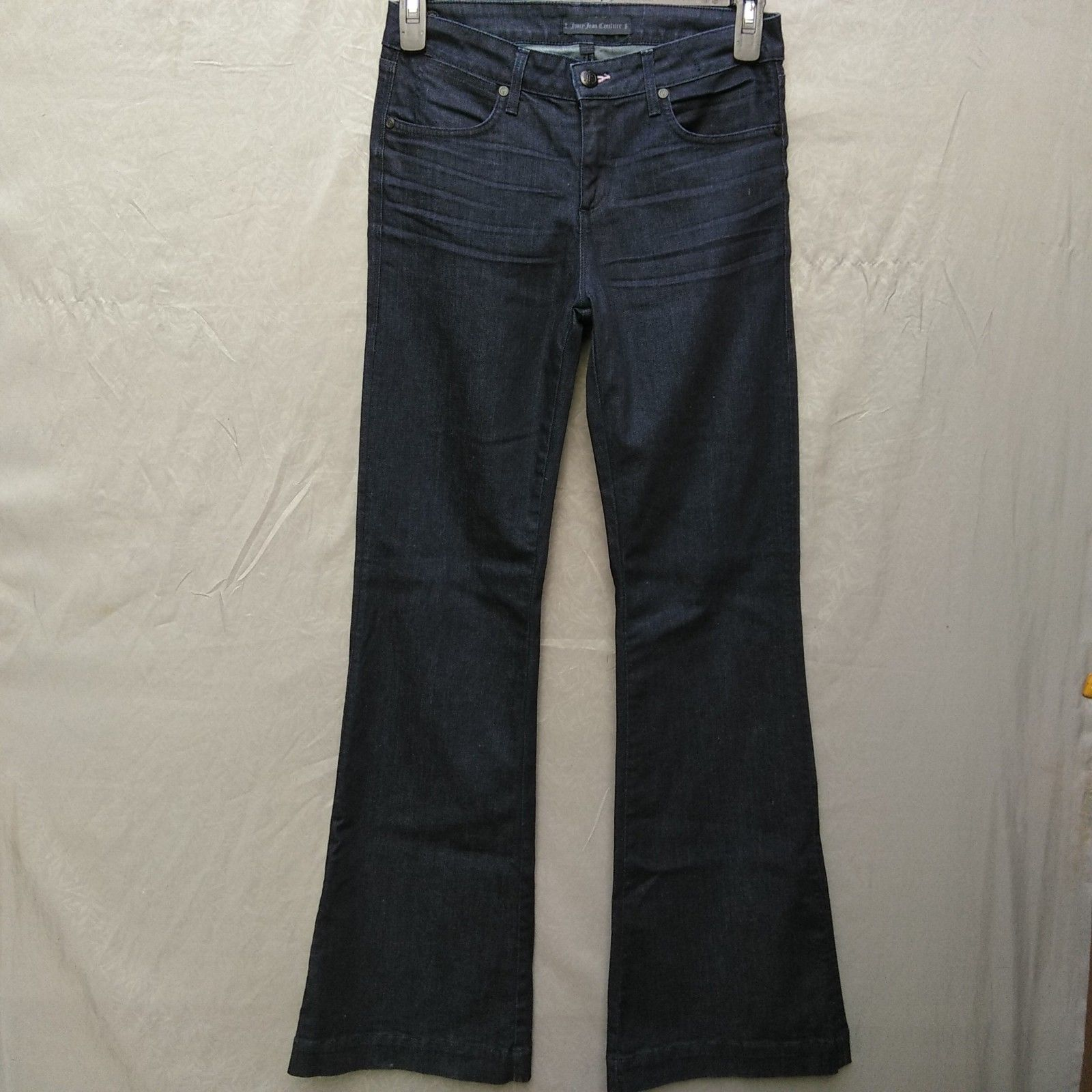 Juicy Jean Couture High Rise Flare Womens Jeans Size 28 Long Dark Wash