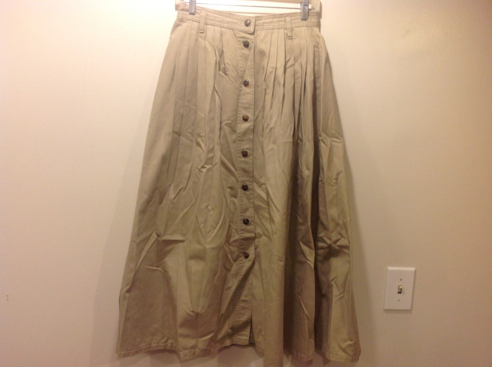 LEVI's DOCKERS Pale Green Long Button Down Skirt