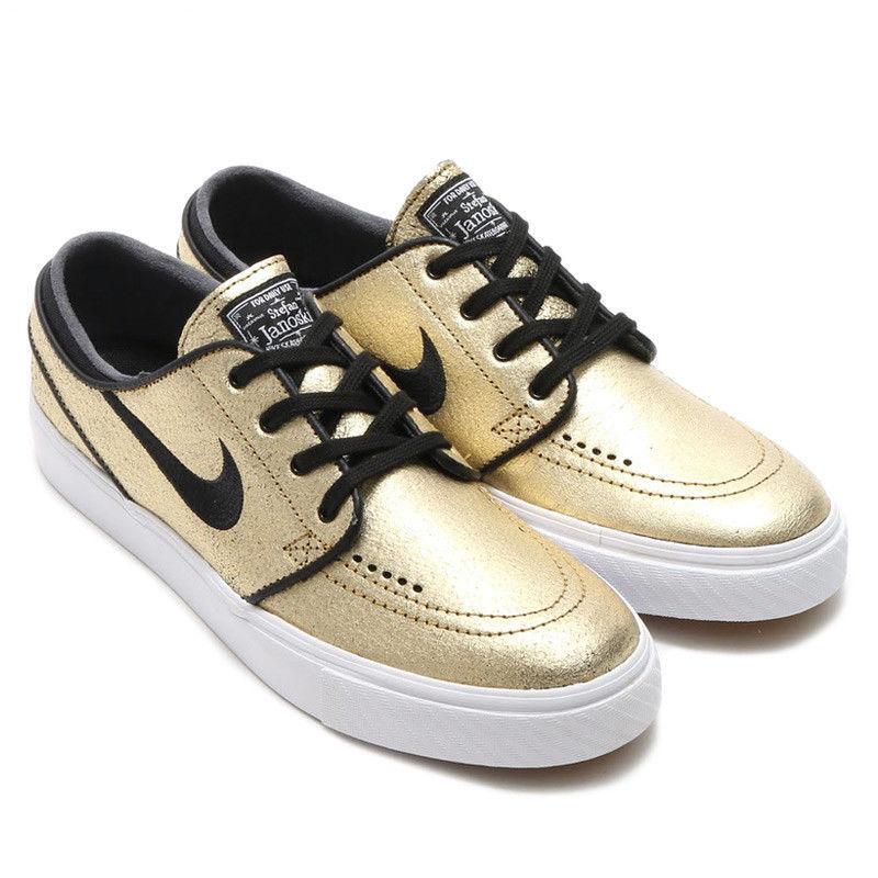brand new bd370 37178 Nike Sb Zoom Stefan Janoski L pelle Oro and 50 similar items