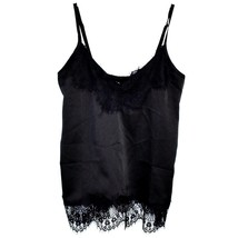 Missguided Women's Silky Black Lace Tank Top US 4 | UK 8 | EUR 36