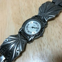 Vintage Opticks Lady Lady Ornate Fancy Analog Quartz Watch Hours~New Bat... - $17.09