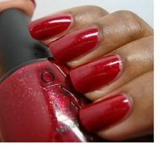 OPI Burlesque ALI'S BIG BREAK Red Shimmer w/ Gold Fleck Nail Polish Lacq... - $9.89