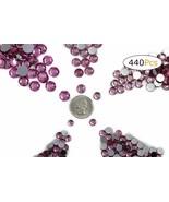 Acrylic Rhinestones Flat Back Pink Lt Rose Mixed 5 Sizes 440 Pcs For DIY... - $12.30