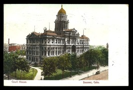 Court House Postcard 1906 Colorado Denver Post Office Undercover Stamp C... - $14.99