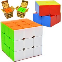 Speed Cube, 2 pack Magic Rubix Cube 3x3 & 2x2; Easy Turning; Sticker Fre... - $15.19