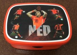 Rosti Mepal Lunch Box Ned Knvp Soccer Orange Black Locking Lid Sturdy Pl... - $4.94