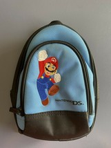 Nintendo DS Super Mario Mini Backpack Carrying Case Storage Bag Travel Blue - $3.99