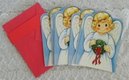 12 Vintage Unused Fantus Paper Christmas Cut Outs Angel Cards Judy Blank... - $14.99