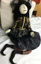 "Primitive Halloween Sitting Witch decoration prop doll figure 30"" - $28.04"