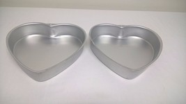 2 Wilton Heart Shaped Aluminum Cake Pans 2105-5176 - $13.72
