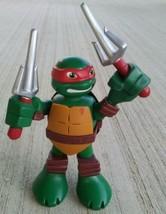 Teenage Mutant Ninja Turtles Raphael Playmates Toys Viacom Weapons Red T... - $12.85
