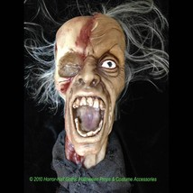 Realistic Life Size Zombie SHRUNKEN SEVERED HUMAN HEAD Haunted House Hor... - $44.52
