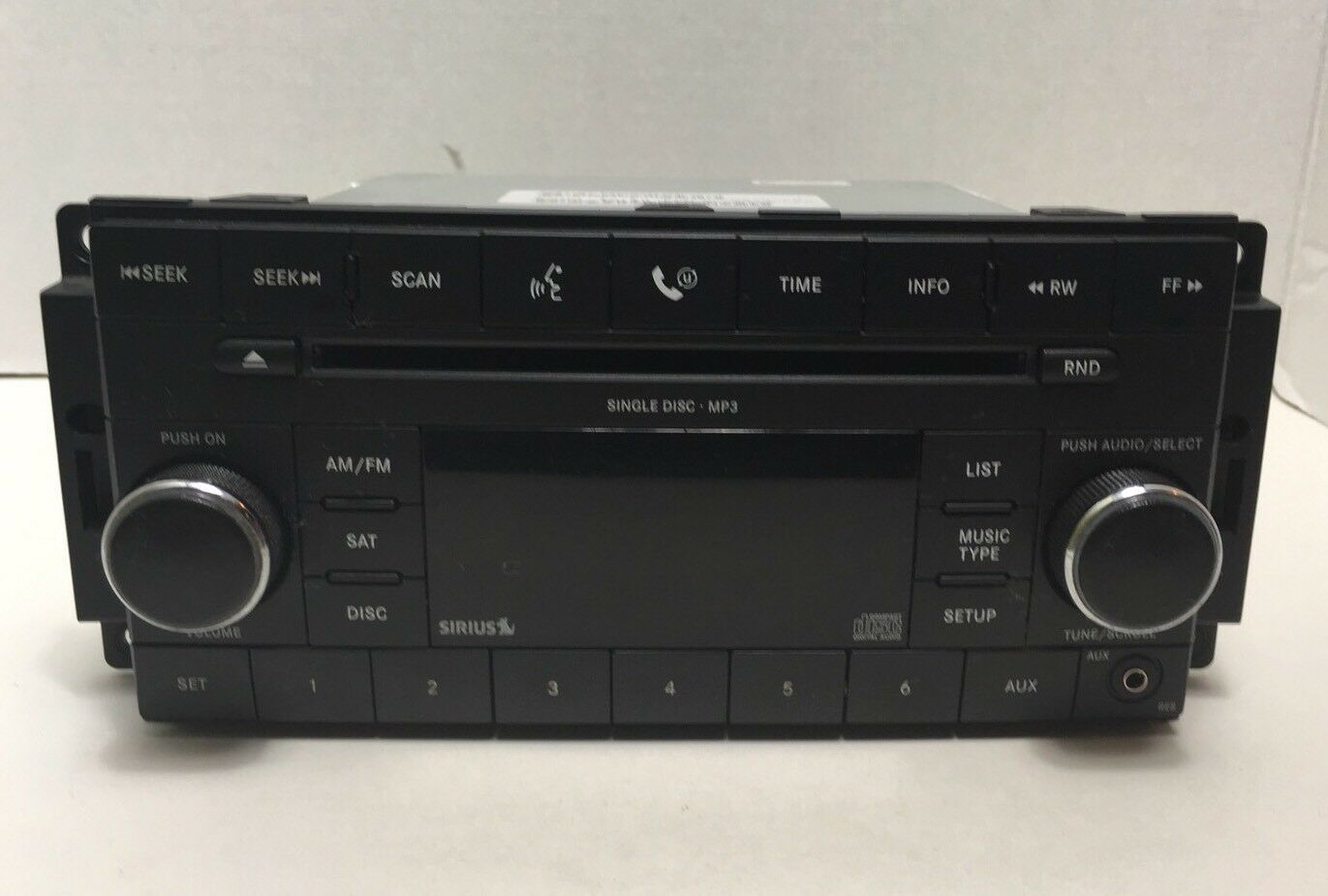 Chrysler Jeep OEM Satellite Single Disc MP3 CD Radio Tuner 08-12 P05064421AF image 2