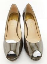 COLE HAAN Size 8 CARMA Bronze Patent Open Toe Pumps Shoes Air Tech - $33.00