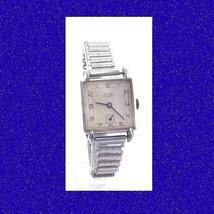 Stunning Steel  Deco Lanco Gents Flared Lugs Watch & Bonniklip Bracelet 1949 - $160.28