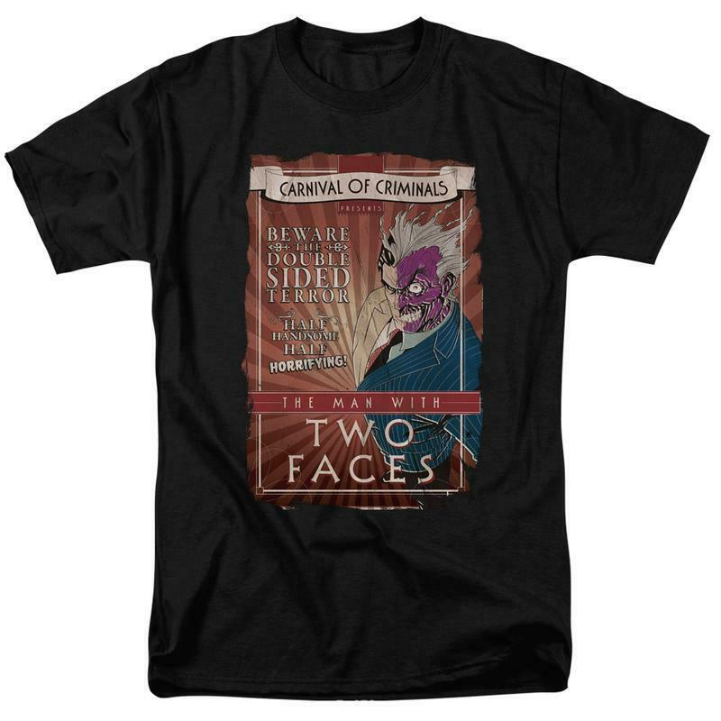 DC Comics The Man with two faces Carnival of Criminals retro Tee BM2186