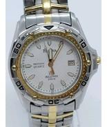 Bulova Motion Quartz Millenia 100m men's watch Two Toned 98g36 - $179.10