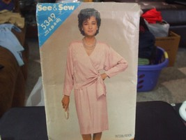 Butterick See & Sew 5349 Misses Dress Pattern - Size 6 - $6.72