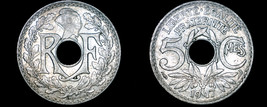 1917 French 5 Centimes World Coin - France - $49.99
