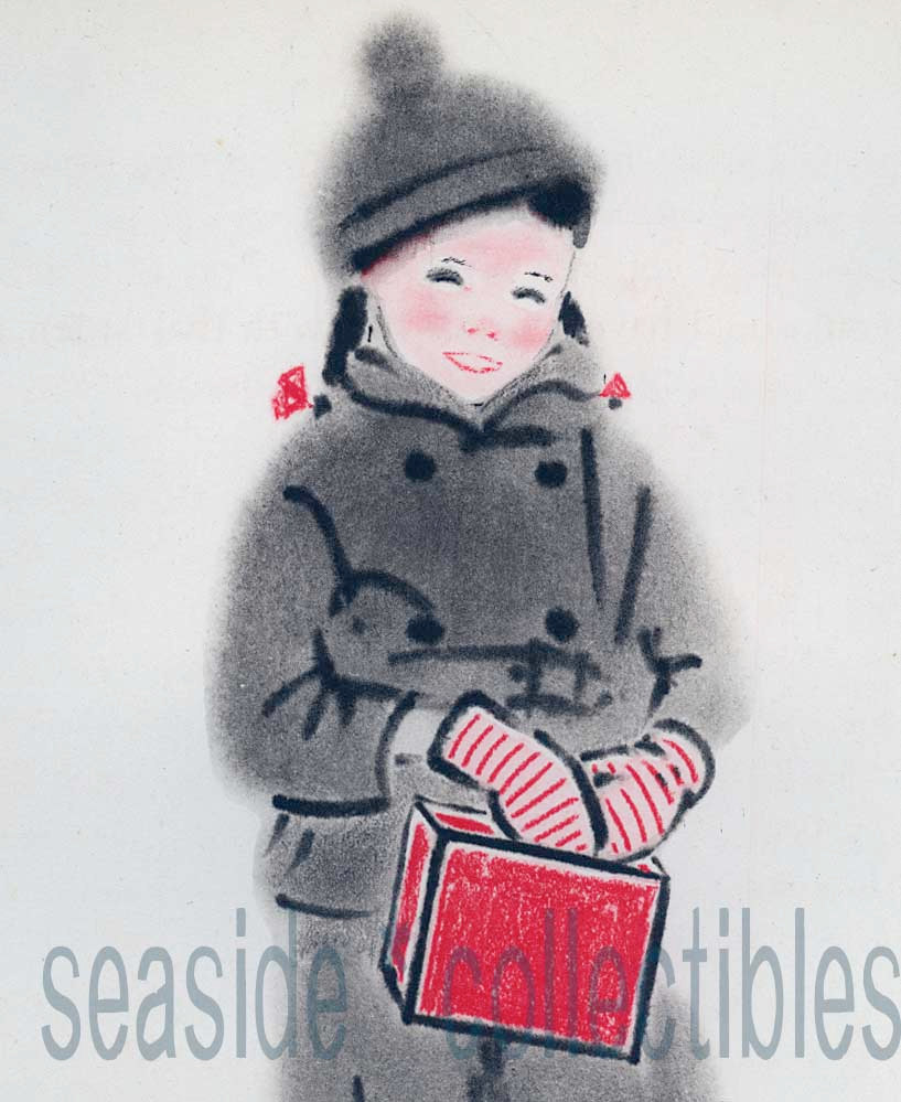 Young Girl in Winter Clothes Clare Turlay Newberry 1930 Illustration 1stED Print - $6.01