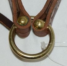 Courts Saddlery 14022 Lined Leather Dark Brown Noseband image 3