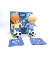 Enesco COUNTRY COUSINS Katie and Scooter Playing Soccer Set E-8272 with Box - $34.63