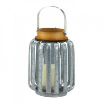 Large Galvanized Metal Lantern - $31.85