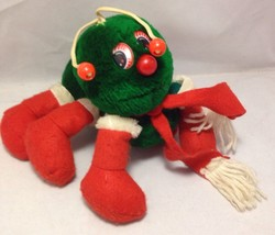 Lots-a-Lots-a-Leggggggs Plush Green w/ Christmas Boots Caterpillar 1984 ... - $19.79