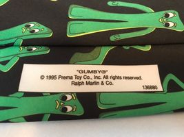 Gumby Ralph Marlin 1995 Prema Toy Co. Black Green Classic Mens Novelty Neck Tie image 4