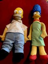 "10"" Homer & 11 1/2"" Marge Simpson - $9.00"