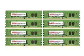 MemoryMasters 64GB (8x8GB) DDR4-2400MHz PC4-19200 ECC RDIMM 1Rx4 1.2V Registered - $353.42