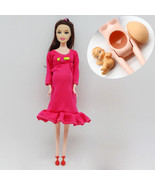 Doll Baby Real Pregnant Mom Educational Tummy Have Her Barbie Suits DIY ... - $9.99