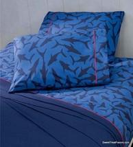 Shark Attack Fancy Boy Bedding Sheet Set Navy Blue Boy Gift Bedroom Full 4PCS - $69.30