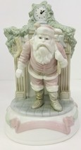 "Holiday Classics 8"" Handpainted Wind Up Music Santa Christmas Tablepiece... - $19.79"