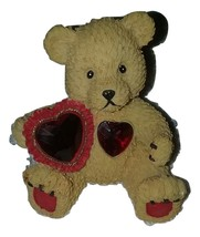 """Bear - July Ruby Birthstone 4"""" Sitting Holding a ' Red Heart  - $14.99"""