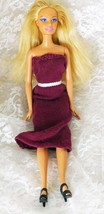 "1999 Mattel Barbie 11 1/2"" doll Blond Hair Blue Eyes Knees Bend - Handma... - $8.59"