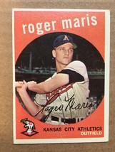 1959 Topps #202 Roger Maris Baseball Card Fair Condition Athletics RF1 - $24.99